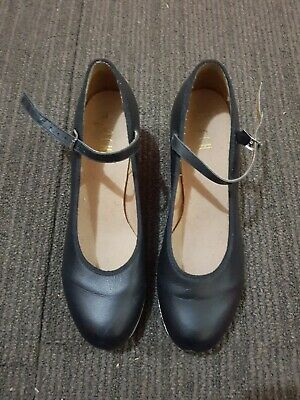 Girls Bloch Black  Techno Tap Shoes Like New size 7