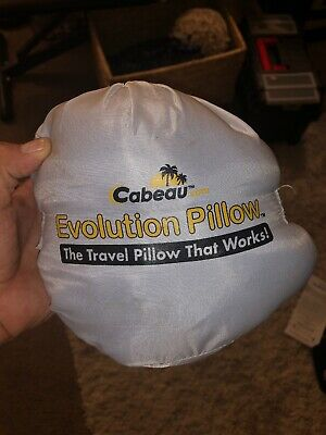 Cabeau Evolution Memory Foam Travel Pillow w/ Washable Cover & Bag, Black