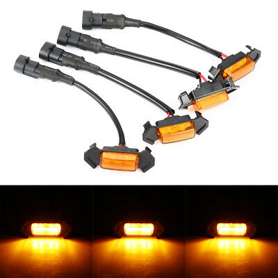 4PACK GRILL LEDS AMBER STYLE GRILLE LED LIGHTS FOR Toyota Tacoma TRD Pro 16-19