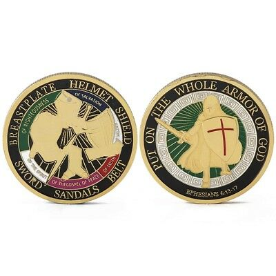 50pcs Put on the Whole Armor of God Commemorative Challenge Coin Collection EN