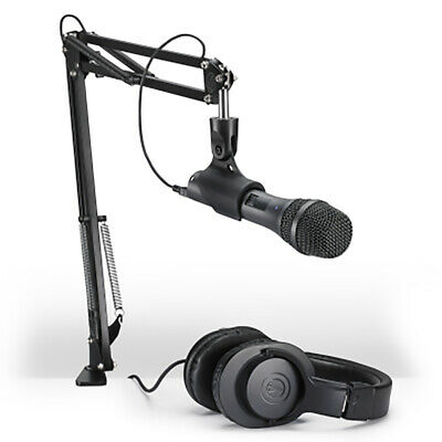 Audio Technica AT2005USB Streaming/Podcasting Pack, Mic, Headphones, Desk Boom