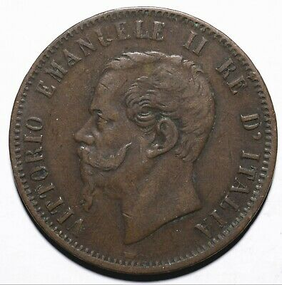1866 Italy Ten 10 Centesimi - Vittorio Emanuele II - Lot 356