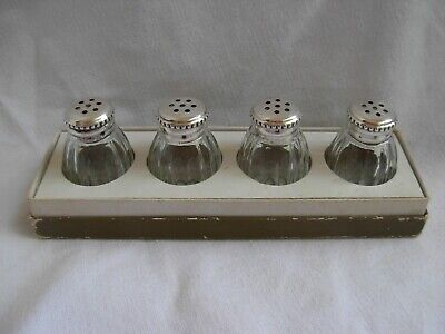 CHRISTOFLE FRENCH STERLING SILVER,CRYSTAL SALT CELLARS,SET OF 4, 20th CENTURY.