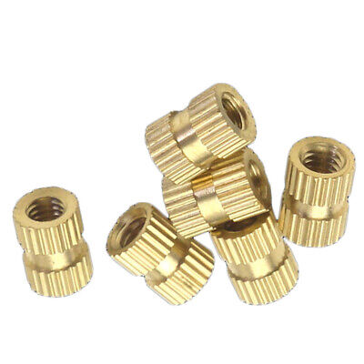 M5 Brass Thread Inserts Nuts Copper injection Plastic Knurl Nut Various Sizes