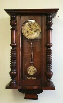 Compact Vintage Vienna Wall Clock with Strike