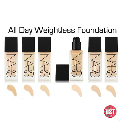 NARS All Day Luminous Foundation Weightless Liquid VARIOUS Shades 30ml NEW UK