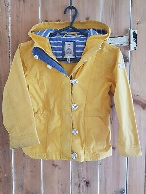 Joules Girls Boys Yellow Raincoat Age 5