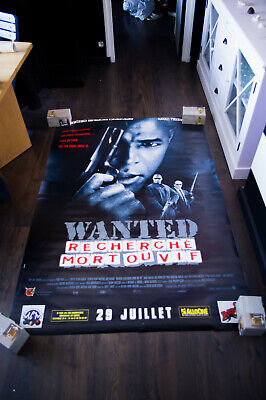 MOST WANTED 4x6 ft Bus Shelter Vintage Movie Poster Original 1997