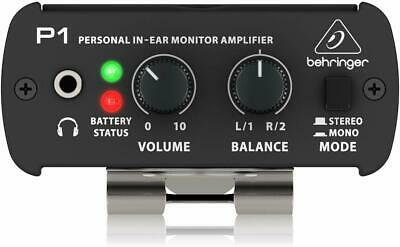Behringer Powerplay P1 Personal In-Ear Monitor Amplifier Switchable Stereo/Mono