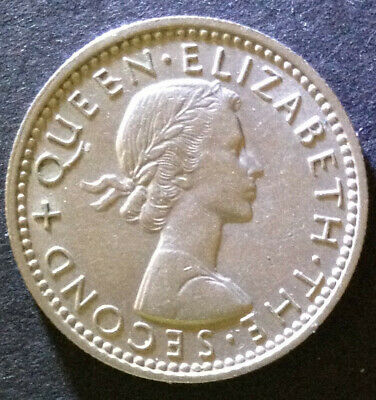 New Zealand, 1960 Sixpence. Beautiful fresh, clean coin.