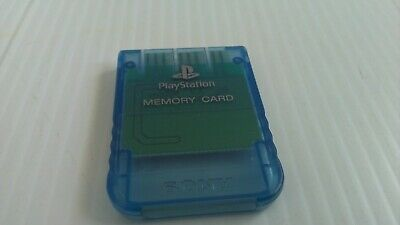 Official Clear Blue PS1 Memory Card - Sony PlayStation One 1 PSOne (SCPH-1020)