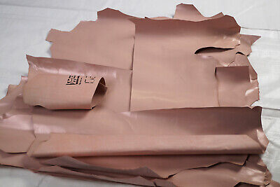 Dusty pink Goatskin Offcuts Bundle - Goat leather pieces 6.5 sq ft | LOW PRICE