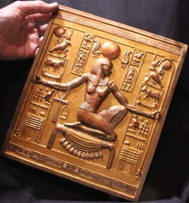 EGYPTIAN GOD OF INFINITY & ENDLESS TIME large stone relief museum replica