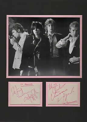 The Pretenders autographs. Chrissie Hynde. Signed by all 4 original band members
