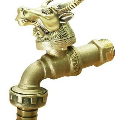 Brass Tap Faucet Vintage Animal Water Home Decor Yard Outdoor Animal Zodiac 1pc