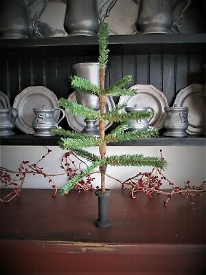 primitive Christmas faux german feather tree