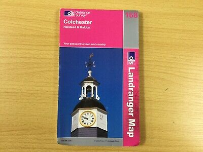Ordnance Survey OS Landranger Map No.168 Colchester Halstead Maldon folding map