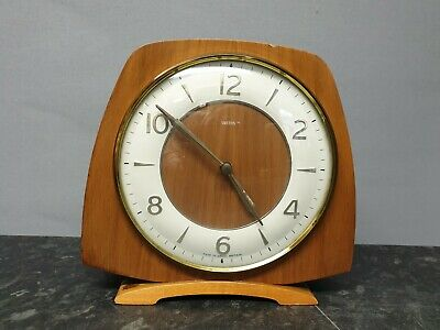 Vintage Smiths Ercol Style 8 Day Mantle Clock with Strike