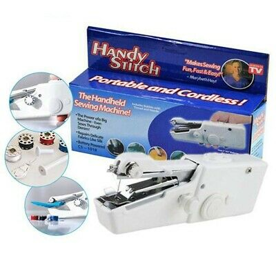 Battery Hand Held Sewing Machine Portable Electric Stitch Mini Cordless Fabric