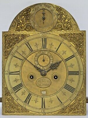 "Superb 12"" Arched Dial 8-day Longcase Grandfather Clock Movement, c1715"