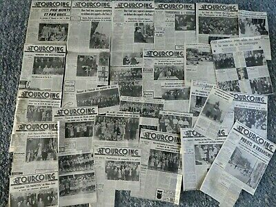 Tourcoing Lot 30 Articles 1959  Du Journal Nord Eclair Pompier Sapeur Photo