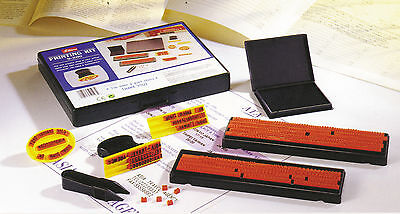 Diy Rubber Stamp Printing Kit Shiny S200 2 Sizes Type New Easy To Use