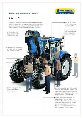 FORD TRACTOR 7810 NEW HOLLAND SALES BROCHURE//POSTER ADVERT COVER A3