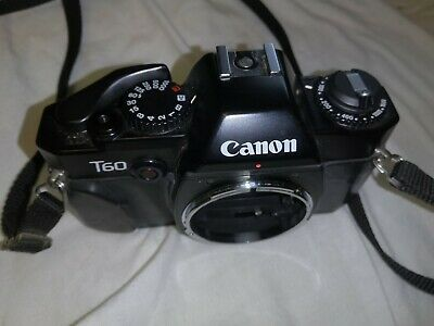 Canon anon T60 film camera. 35mm FD lens mount. AV and manual