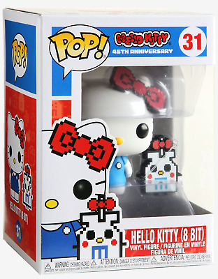 Hello Kitty Funko Pop Anniversary Hello Kitty 8-Bit Vinyl Figure and Buddy.