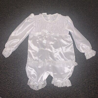 Vintage Baby Christening Romper All In One Suit Age 3-6 Months BNWOT