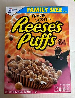 Travis Scott x Reese's Puffs Cereal SOLD OUT Look Mom I Can Fly Family Size RARE
