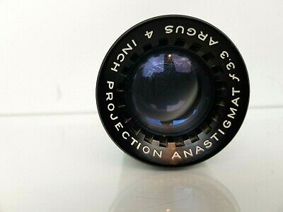 Vintage Argus 4'' (inch) f3.3 Anastigmat Projection Projector Lens