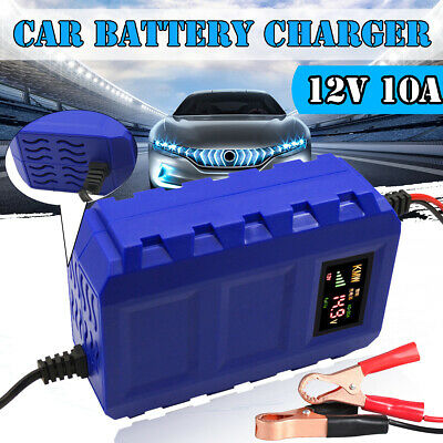 Portable Car Motorcycle Charger Smart Pulse Repair Automobile Battery 12V 10A