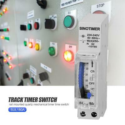 SUL180 DIN Rail Time Switch 24 Hours Programmable Mechanical Timer Switch #K