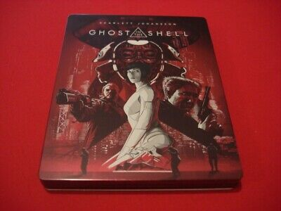 "Blu Ray Steelbook 2D+DVD+Blu Ray Bonus ""Ghost In The Shell"" Ed. FNAC France, VF"