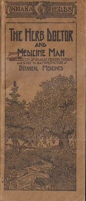 Indiana Herbs Herb Doctor and Medicine Man Booklet