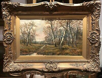 FINE OLD MASTER 19th CENTURY OIL PAINTING By S WILLIAM  GOLD GILT FRAME