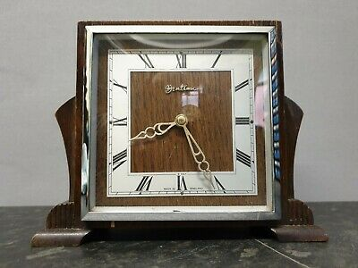 Vintage Square Dial 8 Day Mantle Clock with Platform Escapement