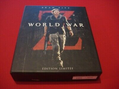 "Blu Ray Steelbook 2D+3D+DVD ""World War Z"" Edition France, VF 372/3000"