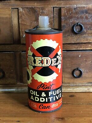 Antique Vintage Collectable Redex Petrol Oil & Fuel Additive 1 Pint Can Tin