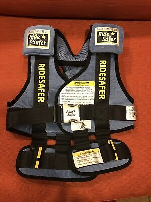 "Ride Safer Travel Vest, Blue, Small (30-60 lbs, 34-52"")- RideSafer"