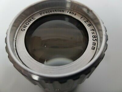 Vintage Gnome f2.8 85mm Projection /Projector Lens