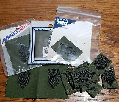 """C34 Military 5806 3/"""" x 5/"""" US Army Sergeant First Class iron on patch"""
