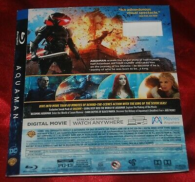 BD SLIPCOVER - FITS Aquaman BD Edition - SLIPCOVER ONLY    no discs
