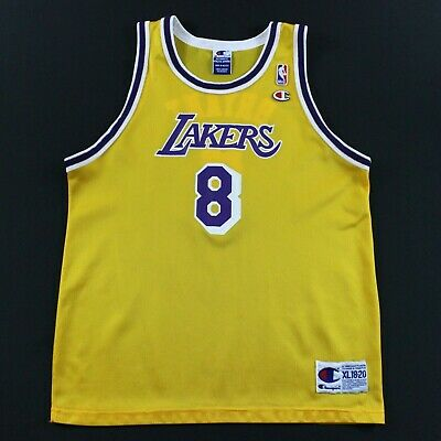 Kobe Bryant Youth Kids XL 18-20 Champion Los Angeles Lakers Jersey