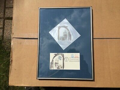 Rare Mount Holyoke College Framed 1st issue Mary Lyon stamp & letterpress plate