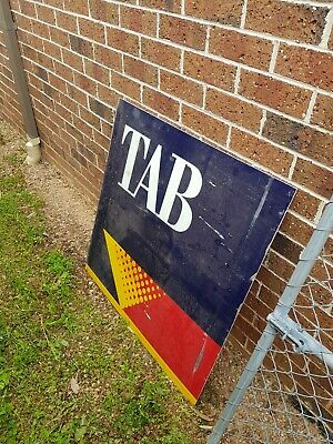 Vintage TAB Sports Betting Large Perspex Advertising Sign Rare940x940