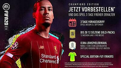 FIFA 20 Champions Edition, FUT-Code PS4 / Upgrade / DLC Packs / Express Versand