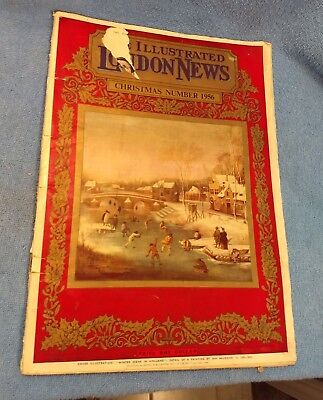 OLD Vtg Christmas Number 1956 Issue of The Illustrated London News