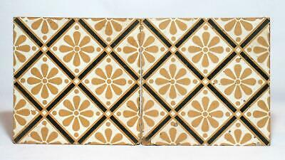 Antique Pair Minton Encaustic Floor Tiles